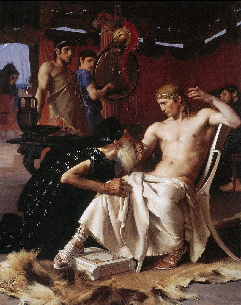 Priam at the Feet of Achilles (1876)