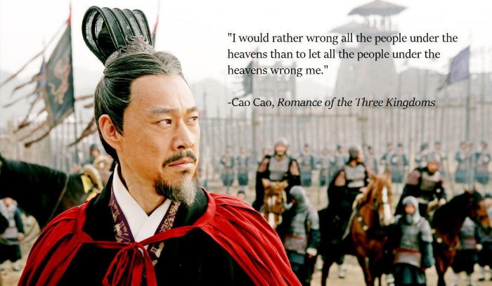 Cao Cao's rather wrong all people quote by Nelson By: Original Souls (2015) Retrieved from: SFW Porn-Worthy Graphics Rights: Labelled for Reuse with Credits