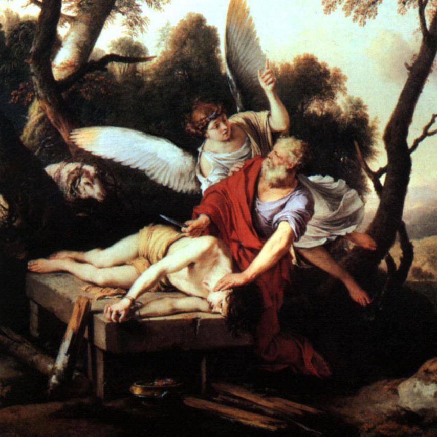 "LA HIRE, ""Abraham Sacrificing Isaac"", via Wikimedia Commons, Public Domain."