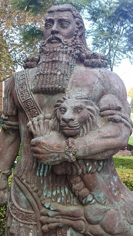 "Author Unknown, ""Gilgamesh Statue, Sydney University"", via Wikimedia Commons, Public Domain."