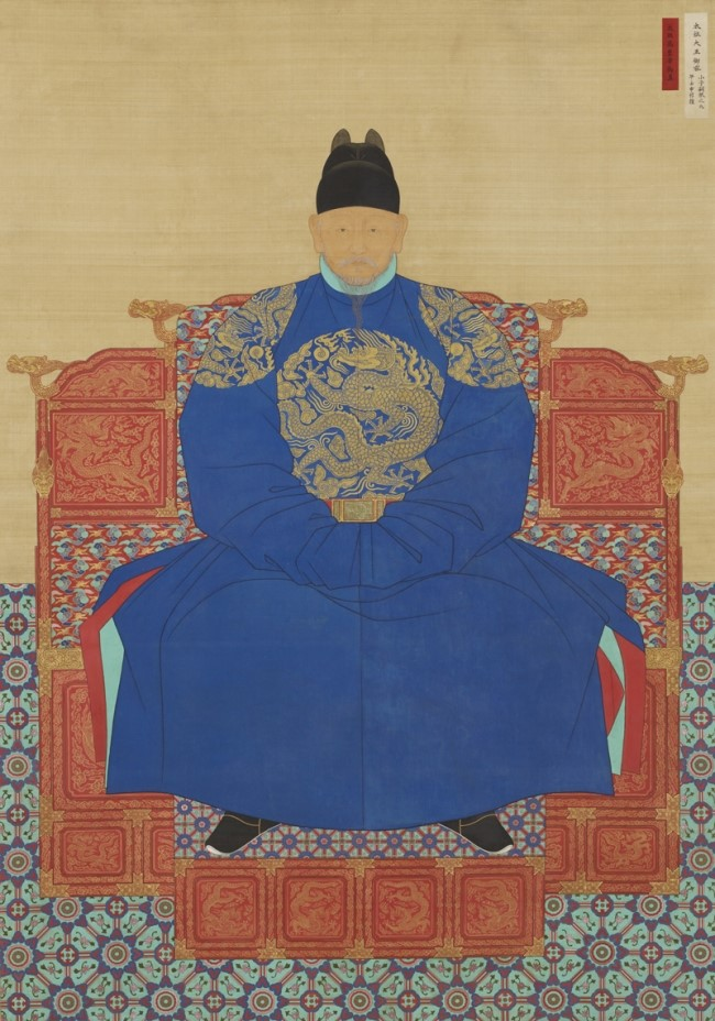 King Taejo's portrait, By  Jo Jung-muk(?-?), Pak Gijun(?-?), Baek Eunbae(1820-?), Yu Suk(1827-1873) - 전주 경기전 , Public Domain, Wikipedia.