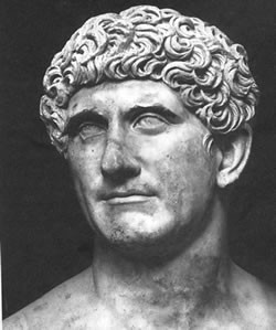 Bust of Marcus Antonius (Marc Antony) from the Vatican Museums, via Ancient History Encyclopedia. Public Domain