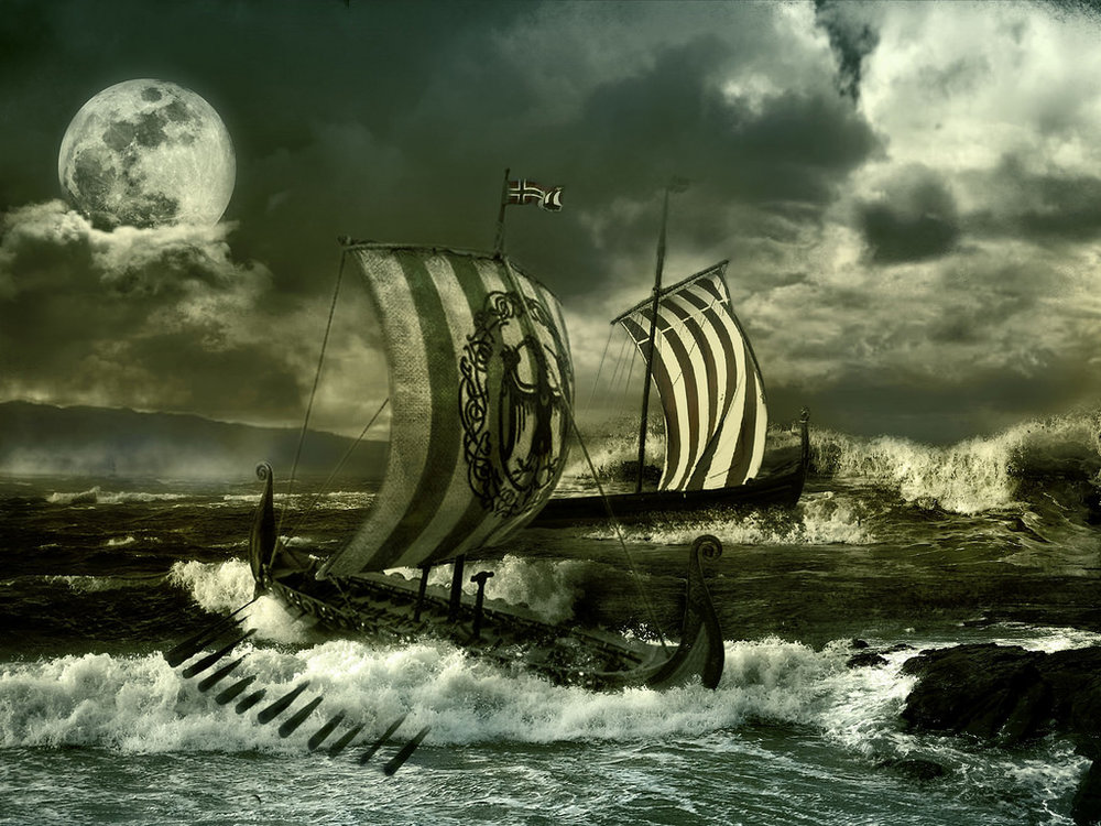 Pursuit of Vikings. By Artiom P via,  Flickr commons .  CC BY 2.0