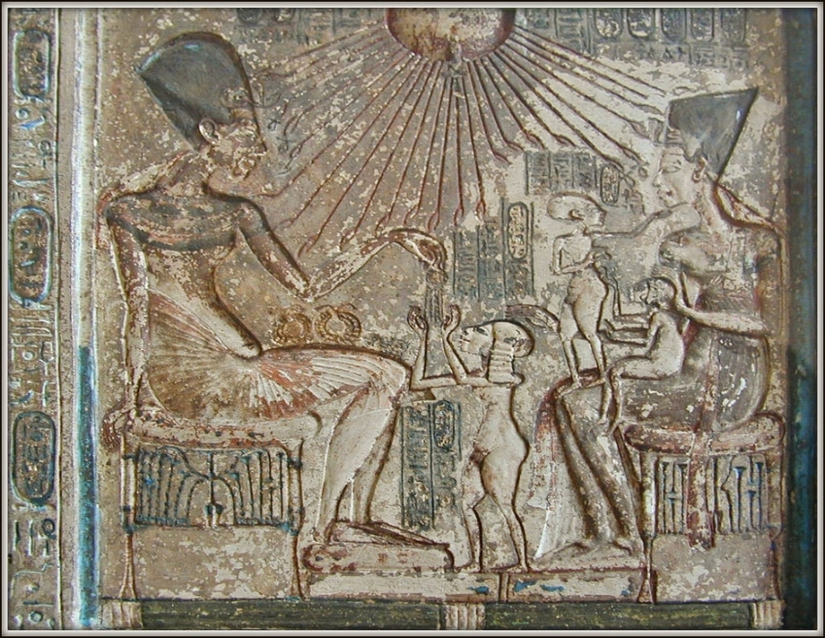 Relief Of Akhenaten [Public Domain]. Via Google commons.