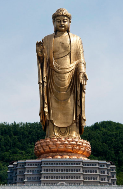 Spring Temple Buddha , located in the Zhaocun township of Lushan County, Henan, China  CC BY-SA 3.0