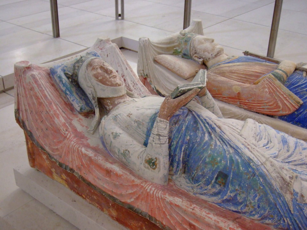 Graves of Eleanor of Aquitaine and Henry II of England in Fontevraud-l'Abbaye