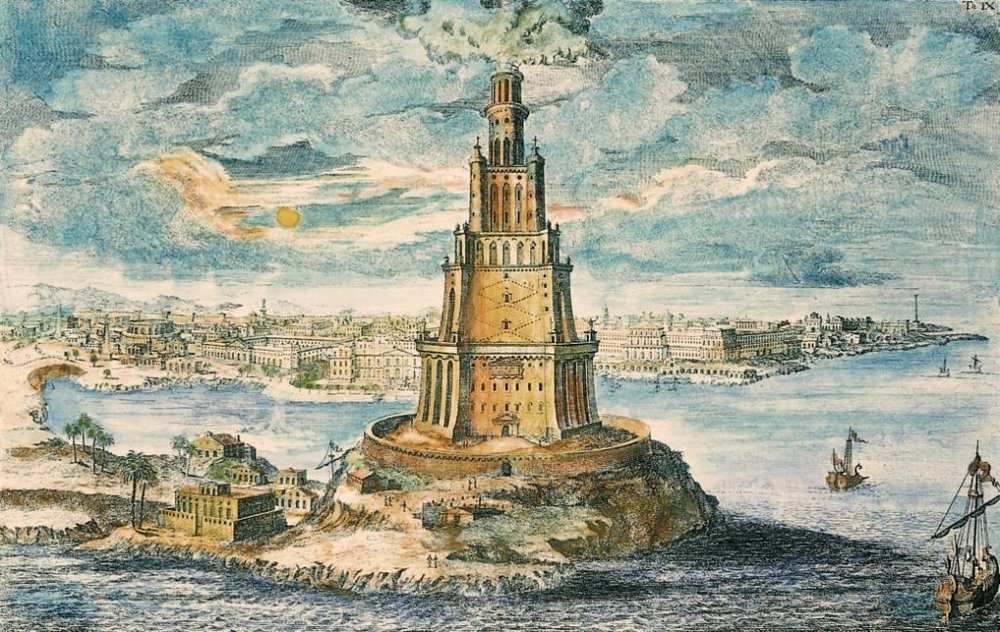 Pharos Alexandria via  Wikimedia Commons