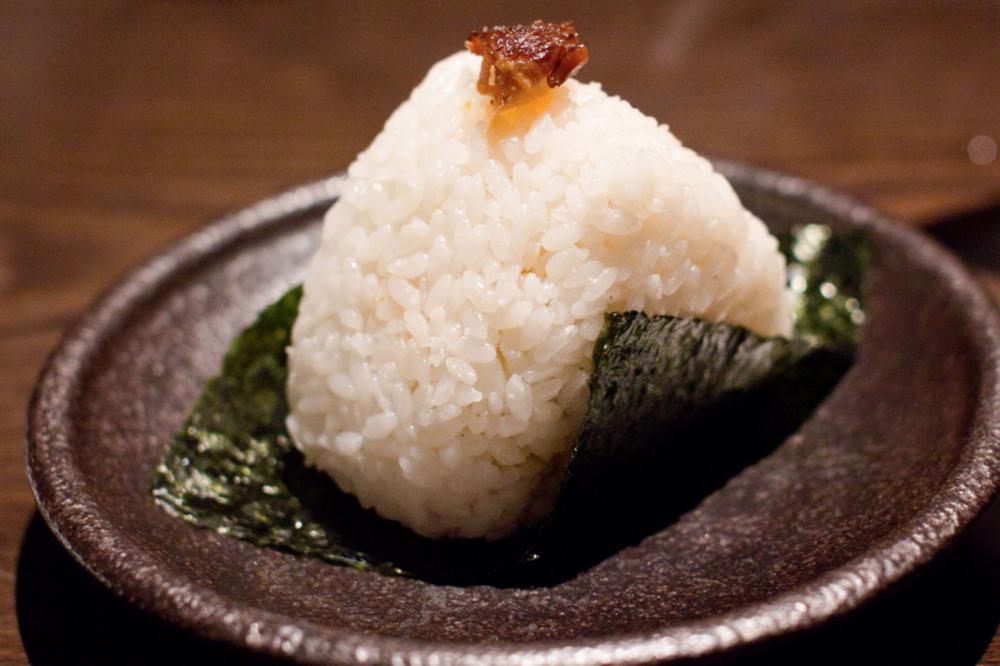 Spicy cha shu onigiri, 7 January 2012, Taken by: Joey