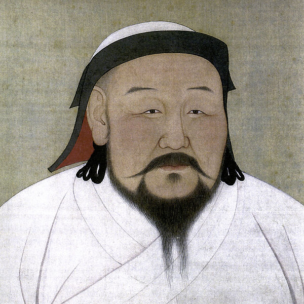 Kublai Khan, as depicted in the 1260s.By National Palace Museum (Dated 1294)[Public Domain], via Wikimedia Commons.