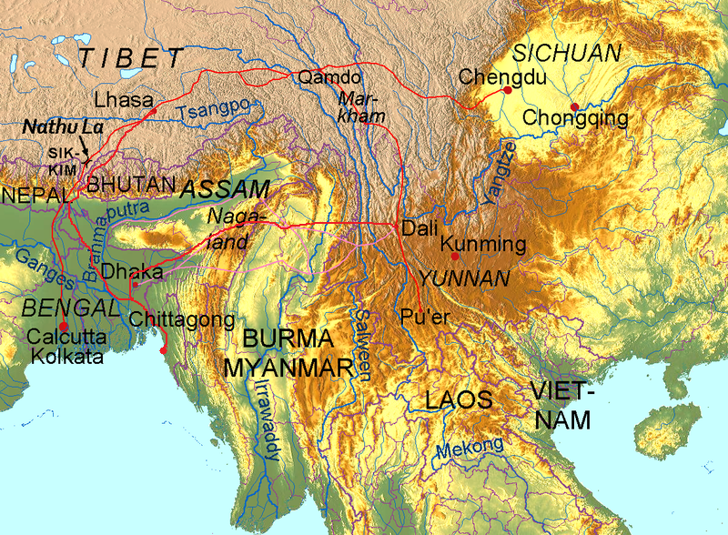Map of Silk Road By Yerius J [CC BY-SA 3.0], via Wikimedia Commons