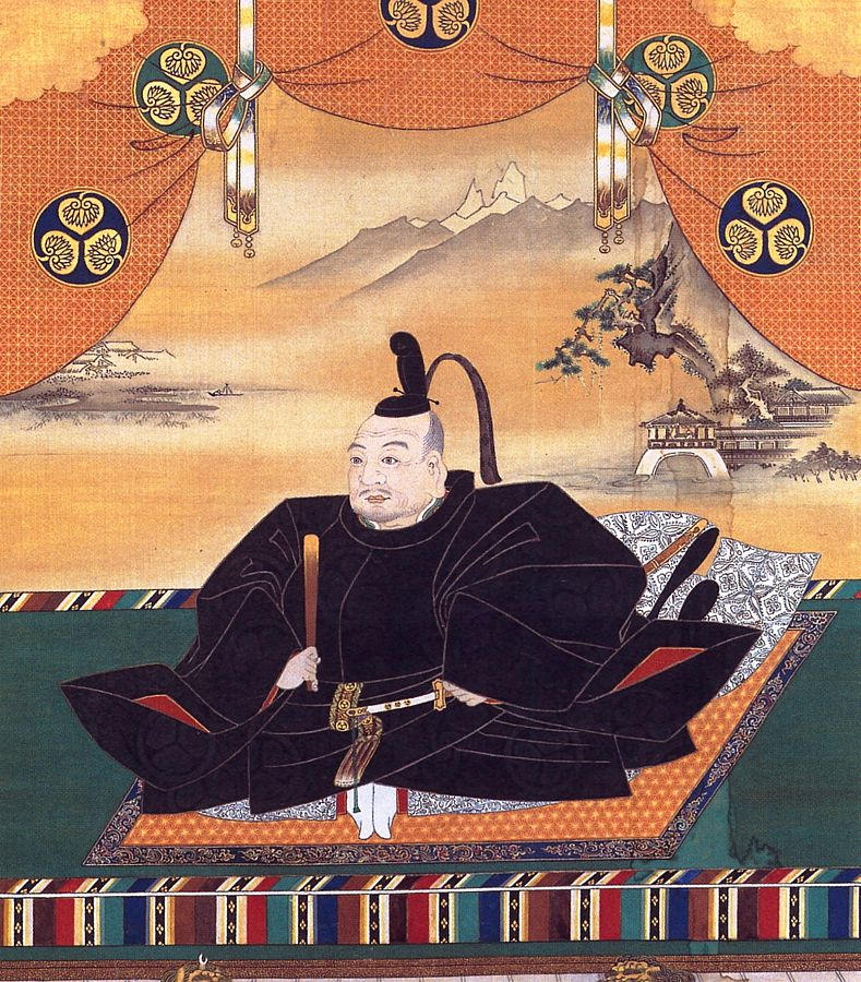 Portrait of shogun Tokugawa Ieyasu, the first shogun of the Tokugawa shogunate, the last shogunate of Feudal Japan. By Kanō Tan'yū (1602-1674), via Wikimedia Commons, Public Domain.