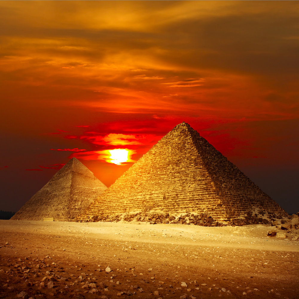 Giza Pyramids Egypt. By Prof. Zidan, via Flickr commons. CC BY 2.0