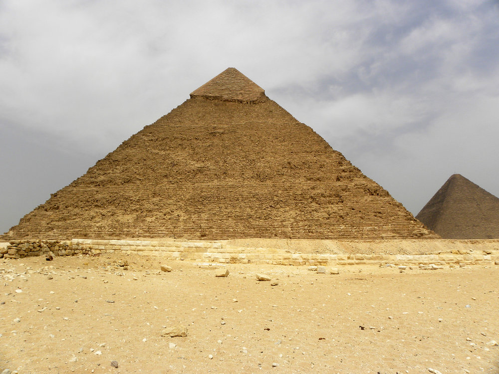 Ancient Egyptian Pyramids of Giza. By Karen, via Flickr commons. CC BY-NC-ND 2.0