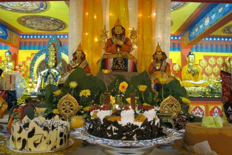 Altar table at Losang Dragpa Centre, Kuala Lumpur,Malaysia; Picture by: Losang Dragpa Centre ; taken 2012