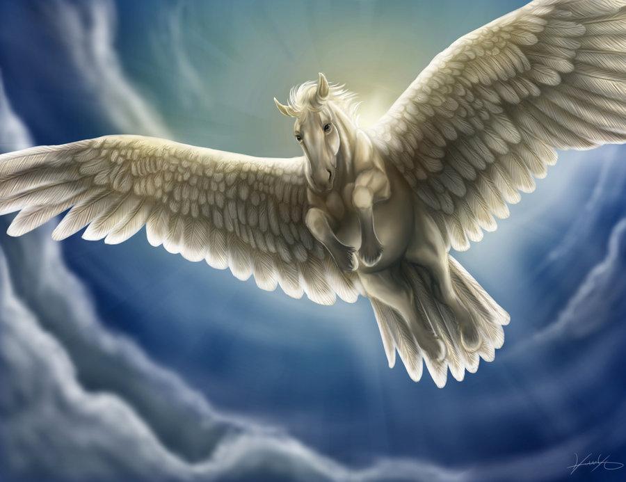 Pegasus - Retrieved From http://www.greekmythology.com/Myths/Creatures/Pegasus/pegasus.html
