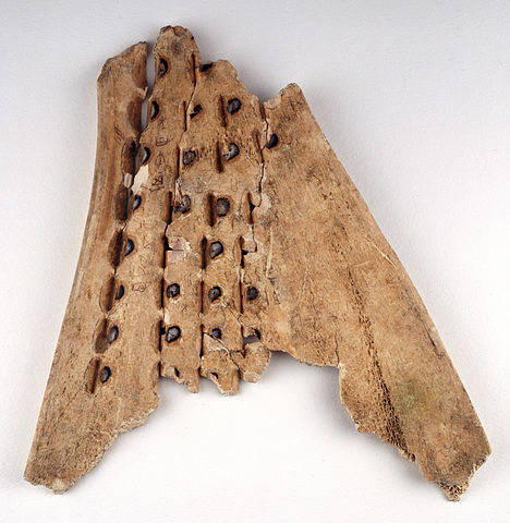 Chinese oracle bone.   Originally published/produced in China, 16th-10th century B.C.; held and digitised by the British Library, and uploaded to Flickr Commons [ CC0 1.0], via Wikimedia Commons.