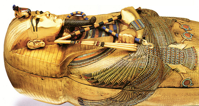 Tutankhamun's coffin. Photo by Rafel Miro.