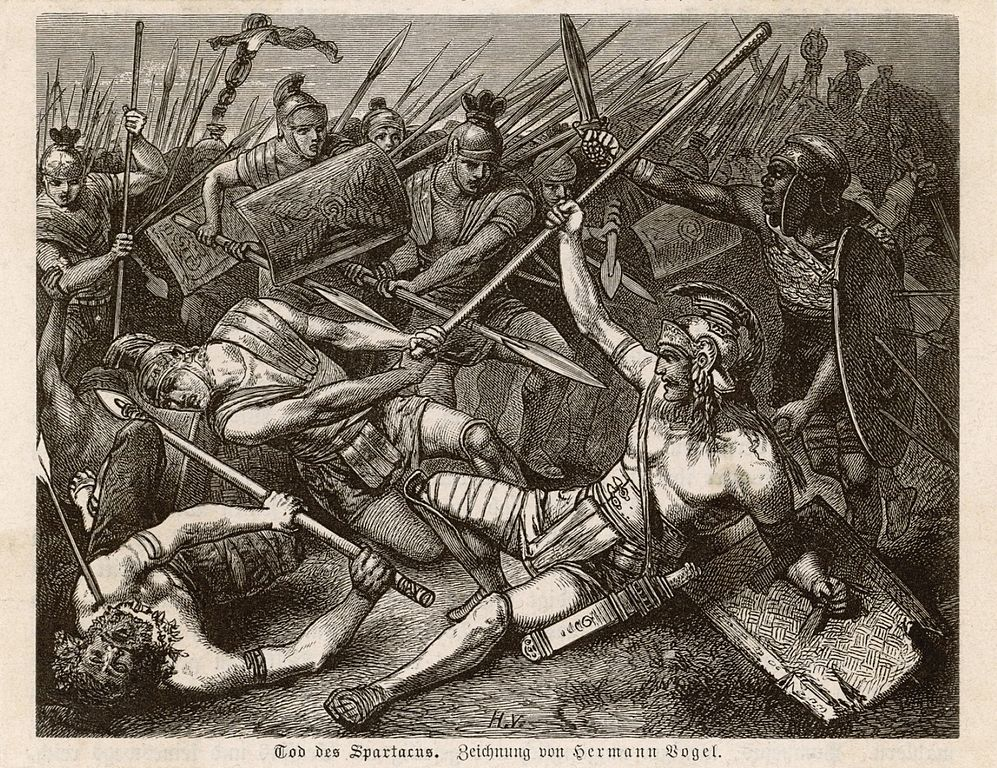 Tod des Spartacus. By Hermann Vogel, via Wikimedia Commons