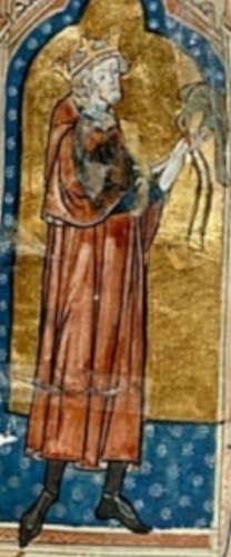 Unknown artist - Stephen of England (14th century) Public Domain