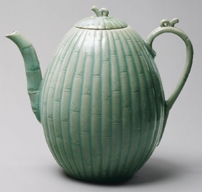 Melon shaped ewer with bamboo decoration (12th cen.) from the Heilbrunn Timeline of Art History (The Met).