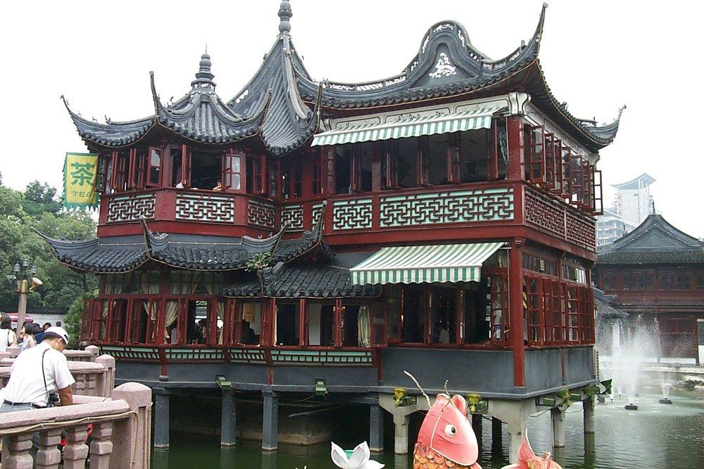 Huxinting Tea House, Shanghai By by Paul Mannix (Flickr)[CC BY-SA 2.0,via Wikimedia Common