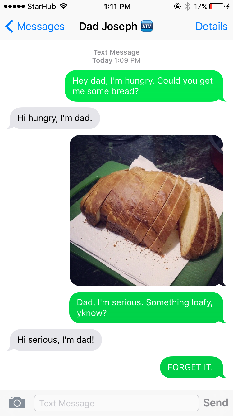 Modern Day Jesus doesn't enjoy dad jokes.