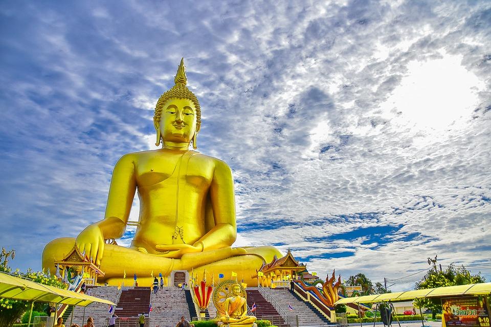 Ang Thong Wat Muang Buddha Statue via  Pixabay