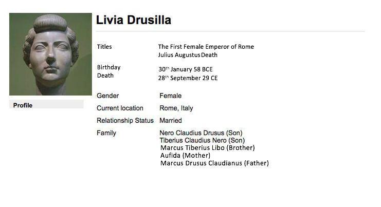 Livia Drusilla's Facebook Profile