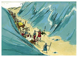 Biblical illustration of Book of Exodus Chapter 15. By Jim Padgett, courtesy of Sweet Publishing, Ft. Worth, TX, and Gospel Light, Ventura, CA. Copyright 1984. [ CC BY-SA 3.0 ],  via Wikimedia Commons.