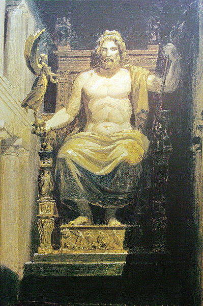 Statue of Zeus. By Bgabel. [   GFDL    or    CC   ], via    Wikimedia Commons