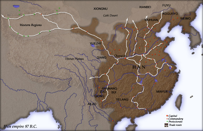 Han Dynasty in 87 BC