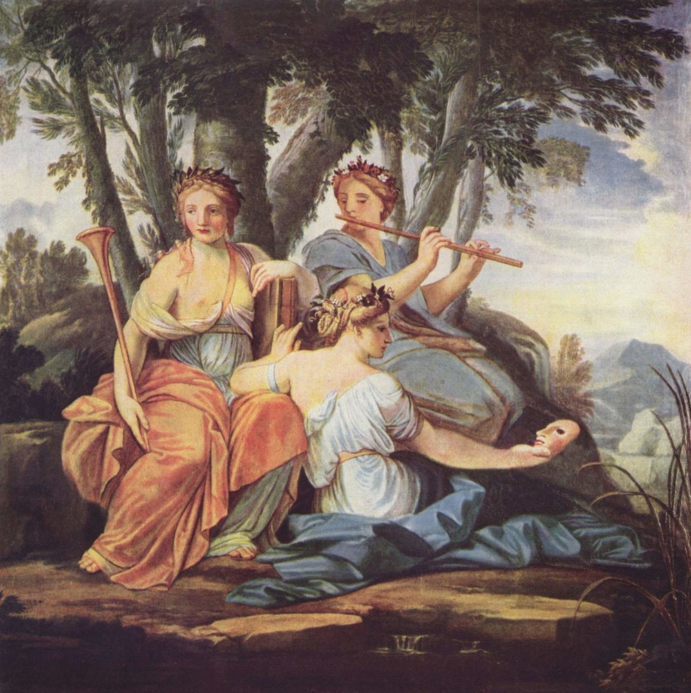 Le Seur, E. The Three Muses of Thesmophoria: Yewhantia, Athemin and Saramis  (circa 1640-1645) Public Domain