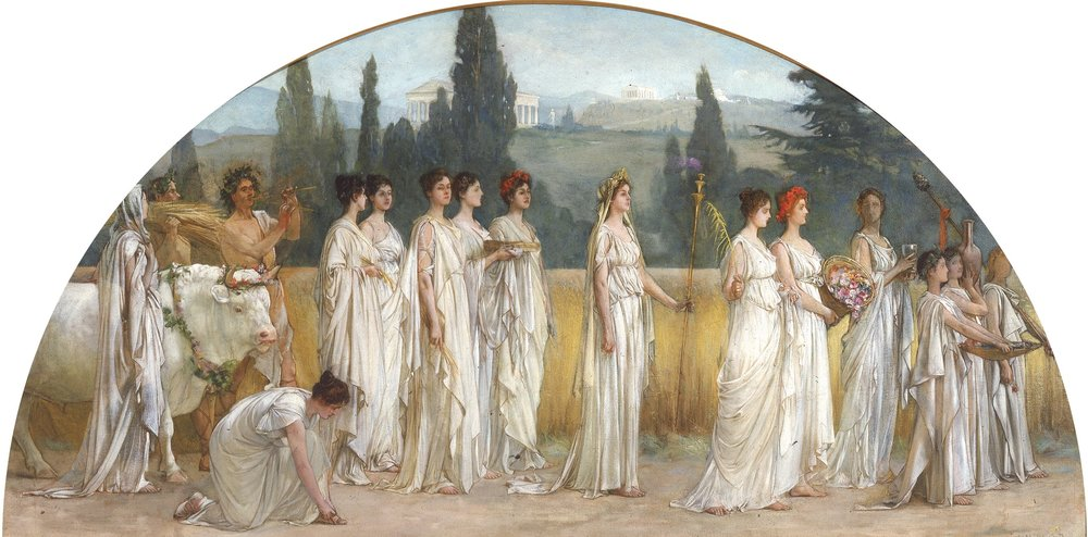 Millet, F.D.  The Procession of women.  (between 1894 and 1897) Public Domain