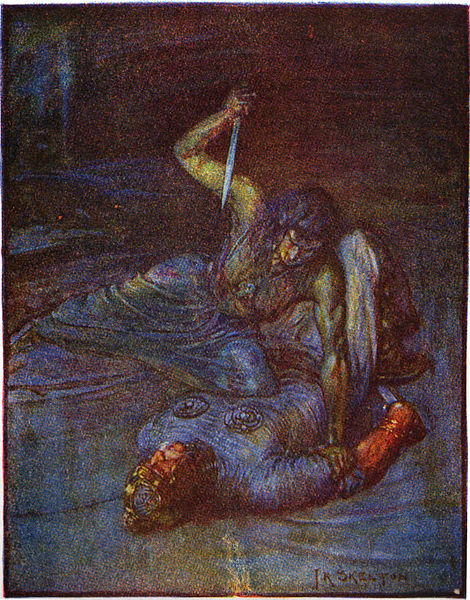Marshall, Henrietta Elizabeth  Grendel's Mother Trying to Stab Beowulf (1January 1908) PD-Art-US
