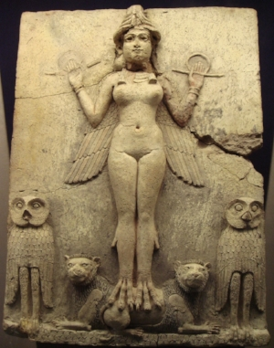 This is Inanna, a Sumerian goddess of love, beauty, fertility and more!