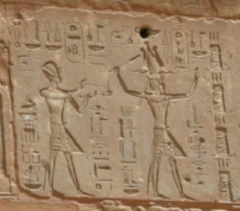 Thutmose III and Hatshepsut from the Red Chapel at Karnak , 19 October 2006, Public Domain