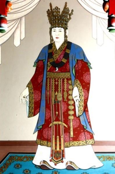 Portrait of Queen Seondeok of Silla (632 - 647CE), Korean Peninsula (N.D.) (Public Domain)