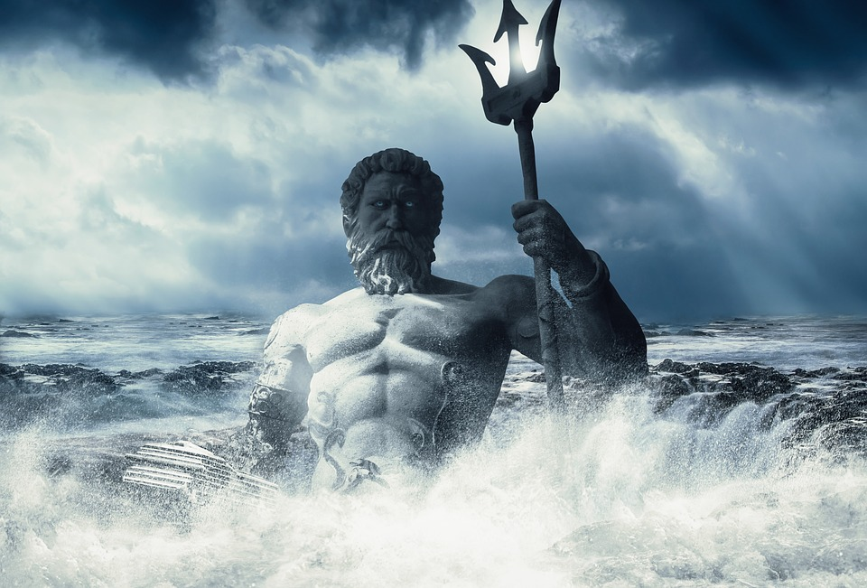 Poseidon Background Wallpaper God Imagination Art (n.d) Public domain