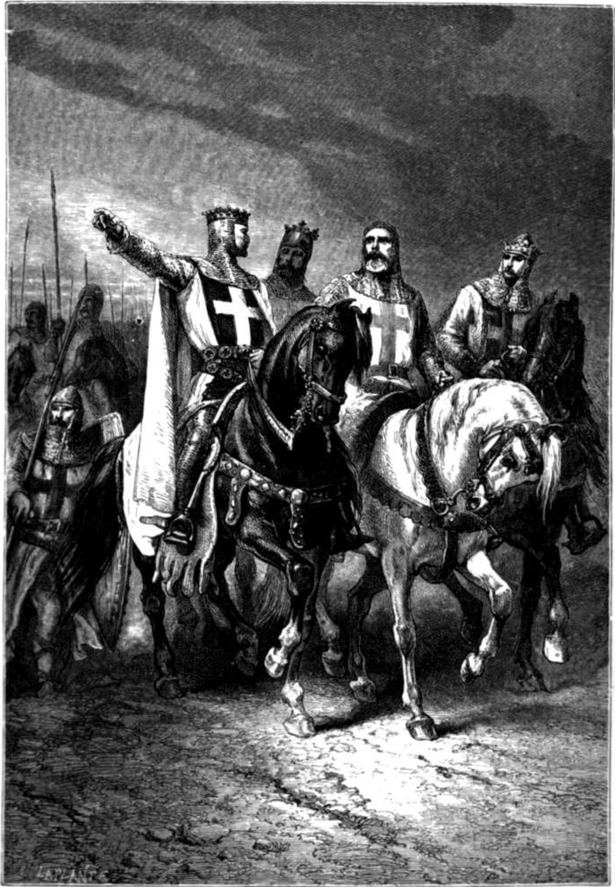 Alphonse de Neuville, The Four Leaders of the First Crusade (1095), year 1883, Public Domain