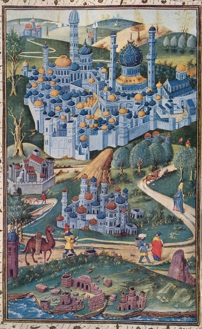 Michel Join-Lambert, 1455 painting of the Holy Land (1958). Public Domain