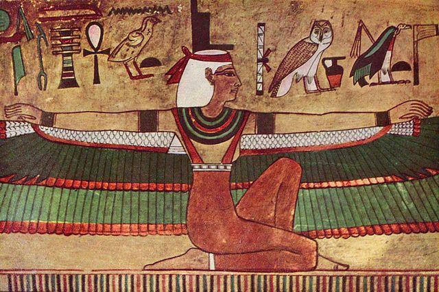 Ägyptischer Maler, Egyptian goddess Isis tomb painting (2002). Wikipedia Commons