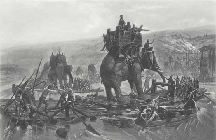 Henri-Paul Motte, Depiction of indian war elephants (1890), Public domain, via Wikimedia Commons