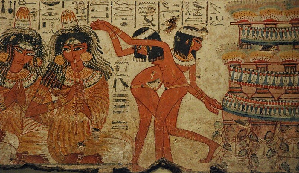 Jan van der Crabben,  Ancient Egyptian Music and Dancing  (15 Sep 2014). CC BY-NC-SA 3.0.