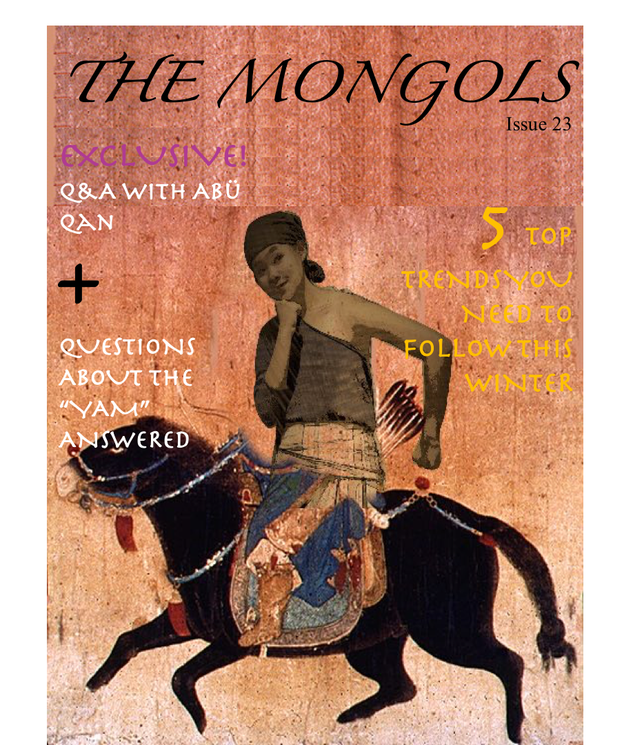 Background Image:                 Unknown,  What Made the Mongol Army So Successful?  (27 July 2014) via historyonthenet.com