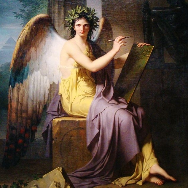 Clio, The Muse of History. Painting by Charles Meynier.