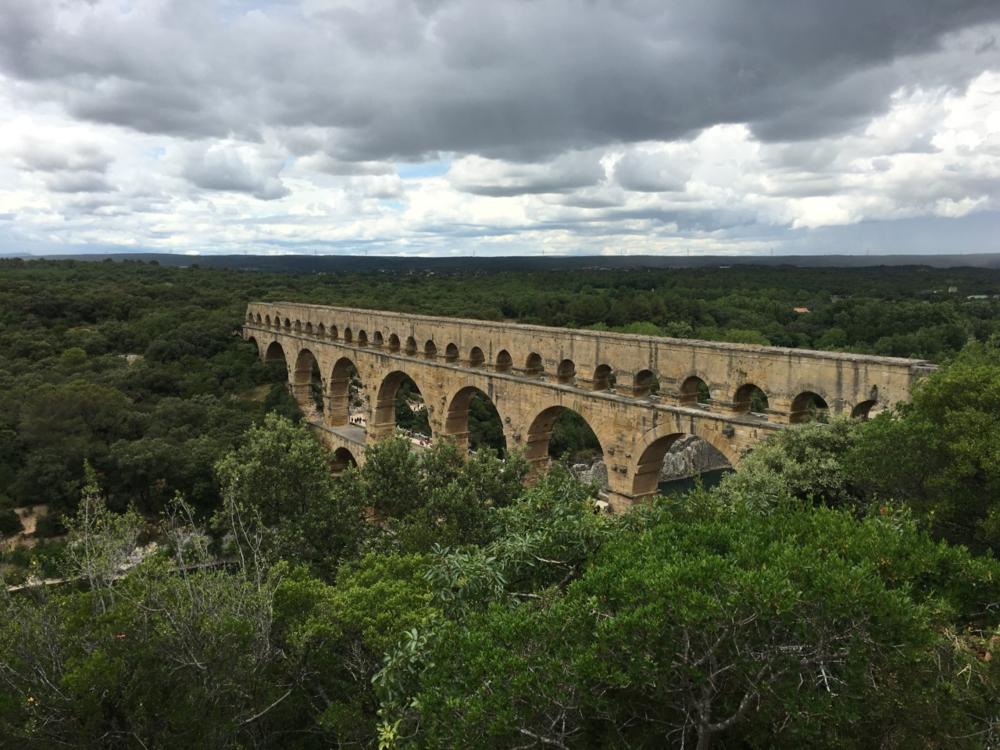 Isabel Rincon.  Pont Du Gard Roman Aqueduct .  June 2016. Bridge-like structure that transports water.