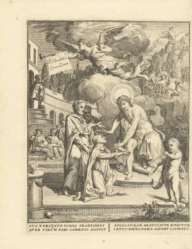 Pieter van Cuyck (I),     Publius Terentius Afer  receiving honours for his playwrite, (1726).