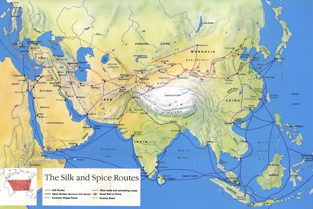 UNESCO, Silk Road Map,  The Silk and Spice Routes ,  (n.d.)