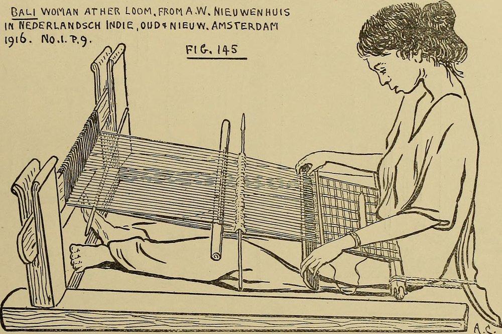 Stage 2 of plain loom: Two-bar loom as utilised in Bali