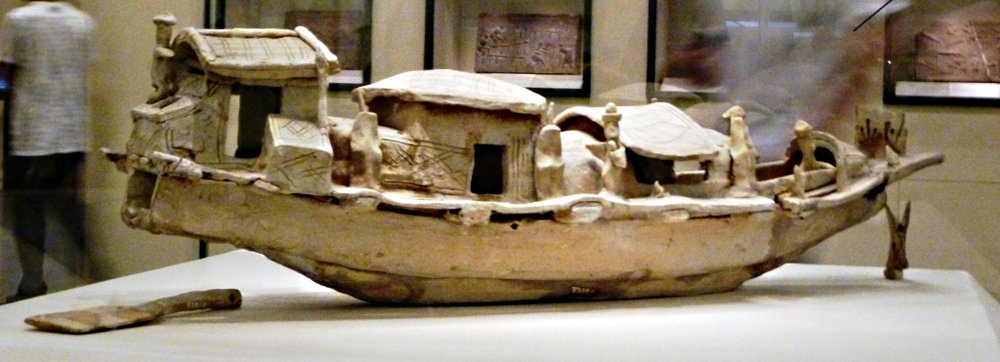 John Hill,  Ship prototypes made from Clay showcasing the newly developed Stern mounted axial rudder, circa 1st Century , (June 8 2011)